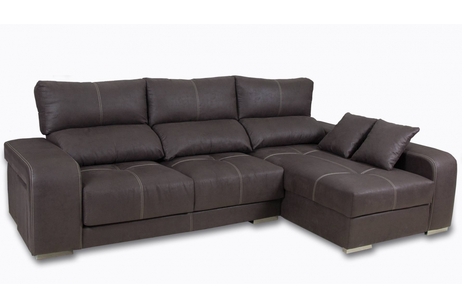Sofá chaiselongue extraible y reclinable