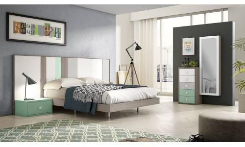 Dormitorio de matrimonio moderno a medida IH090