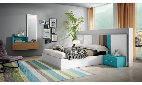 Dormitorio de matrimonio moderno a medida