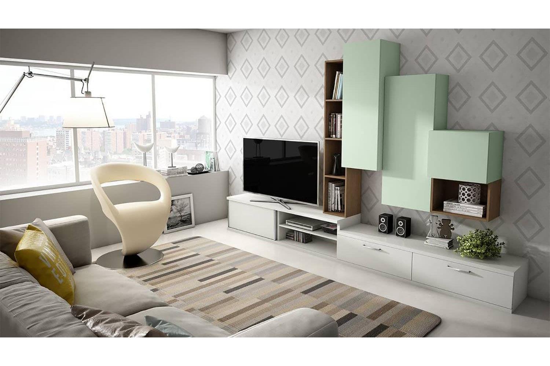 muebles para salón a medida , con diferentes módulos acabados en ...