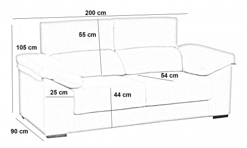 sofá de 3 plazas extraíble Far