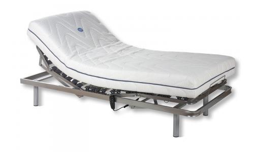 cama con 2 motores mas colchón viscoelastico de eurosomni
