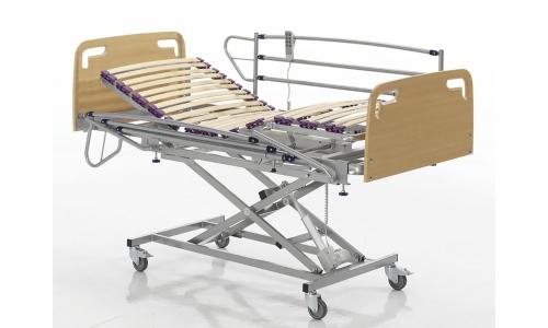 cama geriátrica hospitalaria con barandillas