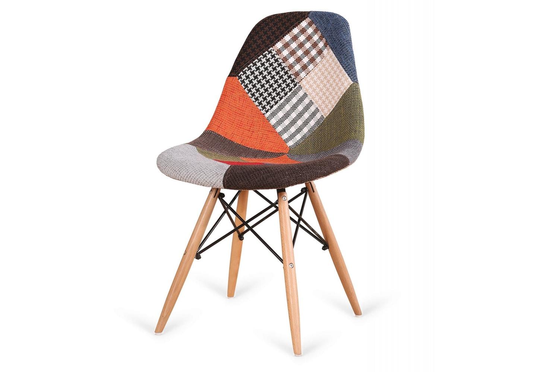 Silla estilo nórdico patchwork