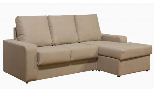 Sofá chaiselongue reversible con arcon Brino