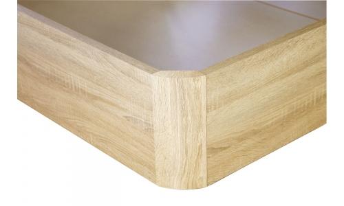 canape de madera mas colchon viscoelastico