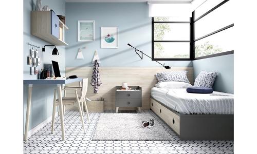 Dormitorio juvenil marrón