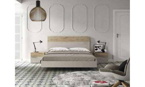 Dormitorio de matrimonio gris